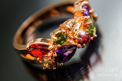 Anniversary Ring Photograph - Gem Fashion Rings by Jorgo Photography - Wall Art Gallery