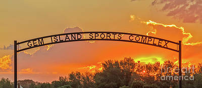 Photograph - Gem Island Sports Complex Entrance by Robert Bales