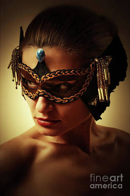 Photograph - Gem Mask I Venetian Face Mask by Dimitar Hristov