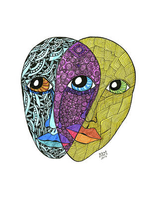 Drawing - Gemini by Barbara McConoughey