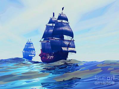 Boating Digital Art - Gemini by Corey Ford