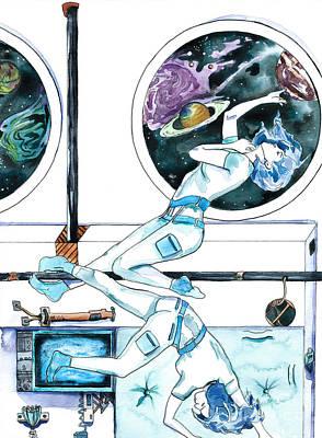 Painting - Gemini Journey Pollux Pleads by D Renee Wilson