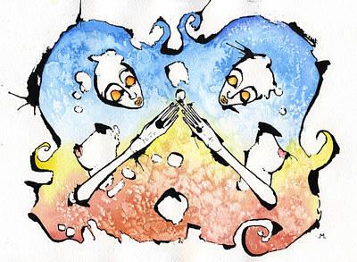 Astrology Mixed Media - Gemini by Mark M  Mellon