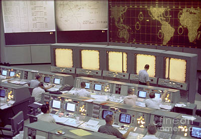 Control Center Photograph - Gemini Mission Control by Nasa/Science Source