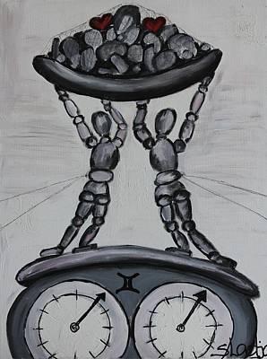 Art Print featuring the painting Gemini by Sladjana Lazarevic