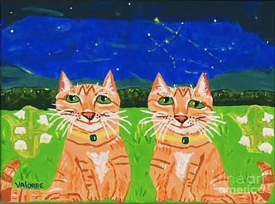 Constellations Painting - Gemini by Valoree Doran