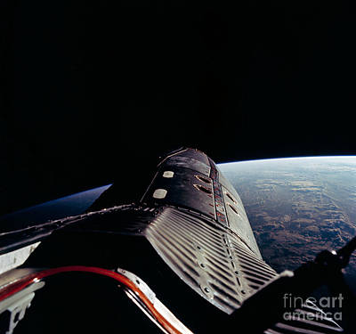 Take A View Photograph - Gemini12 Shuttle Mission  Astronaut Edwin E Aldrin Jr Pilot Took This Picture In Space by R Muirhead Art