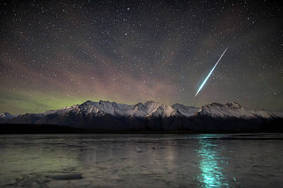 Photograph - Geminid Blast by Matt Skinner