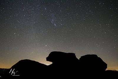 Geminid Meteor Shower At Beacon Heights Art Print