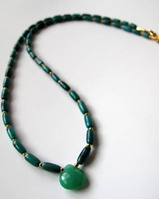 Adove Jewelry - Gemmy Chrysoprase And Turquoise by Adove  Fine Jewelry