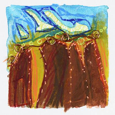 Drawing - Gems, Sedona, Az 2017#nature #awe #wonder #love #energyhealing #beshiny #shamanism #weboflife #drawi by Damini Celebre