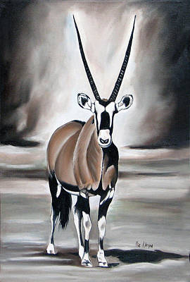 Gemsbok - Solitude Art Print by Ilse Kleyn
