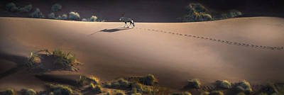 Gemsbok Oryx Gazella On Red Dunes Art Print by Panoramic Images