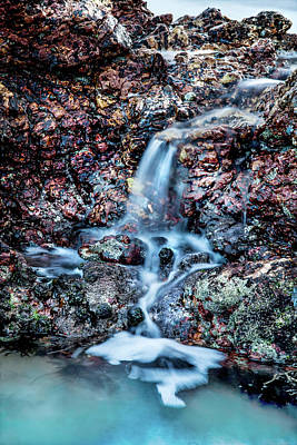 Vivid Color Photograph - Gemstone Falls by Az Jackson