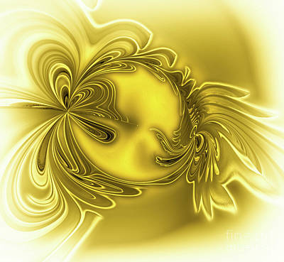 Digital Art - Gemstone Gold by Eva-Maria Di Bella