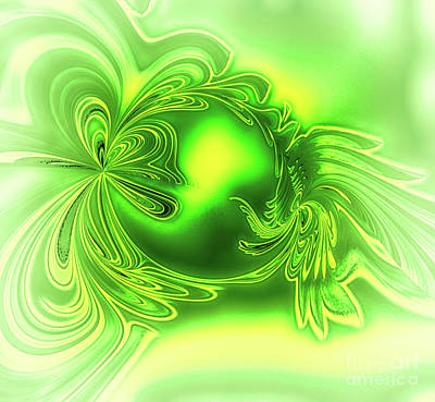 Digital Art - Gemstone Green Tourmaline by Eva-Maria Di Bella