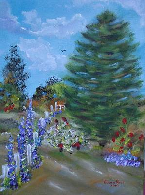 Painting - Garden Fence by Judith Rhue