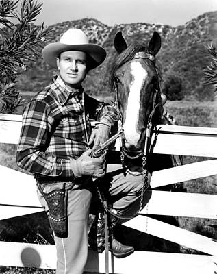 Gene Autry, Undated Print by Everett