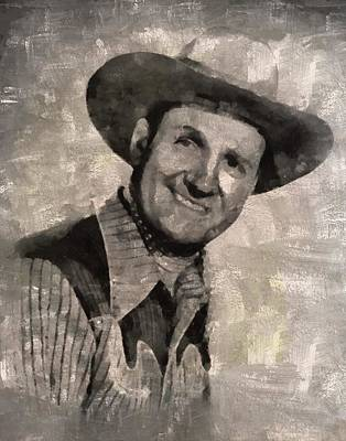 Gene Autry, Western Actor And Singer Art Print