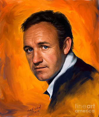 Painting - Gene Hackman by Sam Shacked