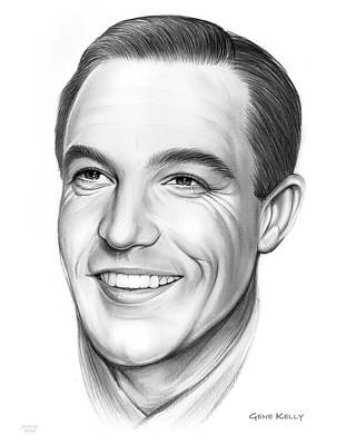 Drawings Royalty Free Images - Gene Kelly 23AUG18 Royalty-Free Image by Greg Joens