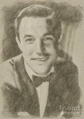 Classic Portrait Drawing - Gene Kelly, Actor And Dancer by Frank Falcon