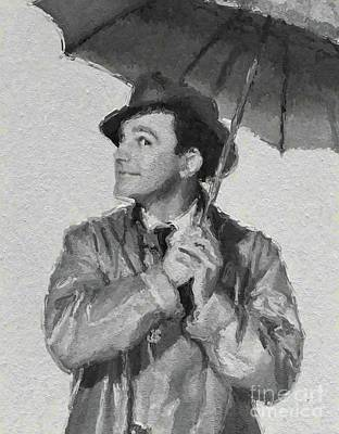 Musicians Royalty Free Images - Gene Kelly, Legend Royalty-Free Image by Mary Bassett