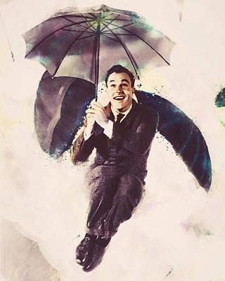Digital Art - Gene Kelly - Singin In The Rain by Darlanne