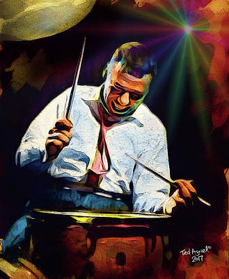 Digital Art - Gene Krupa by Ted Azriel