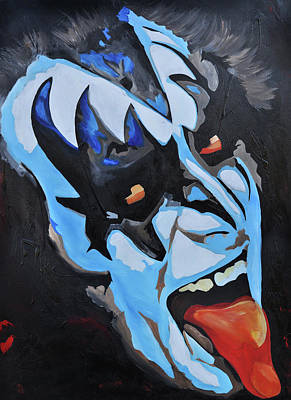 Gene Simmons Lick It Up Art Print