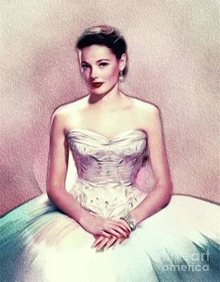 Black And White Horse Photography - Gene Tierney, Actress by Esoterica Art Agency