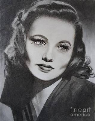 Drawing - Gene Tierney  by Cassy Allsworth
