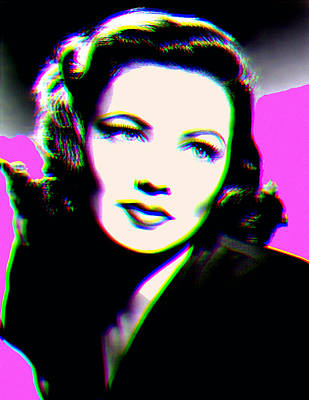 Bipolar Digital Art - Gene Tierney Hologram by Joy McKenzie