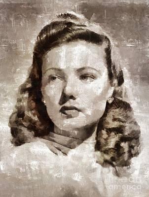 Gene Tierney, Vintage Actress Art Print by Mary Bassett