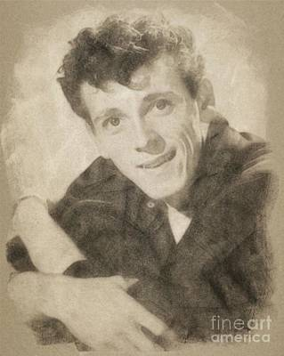 Music Drawings - Gene Vincent, Music Legend by John Springfield by John Springfield