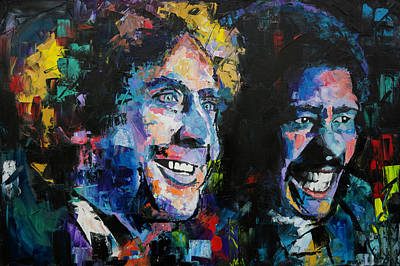 Painting - Gene Wilder And Richard Pryor by Richard Day