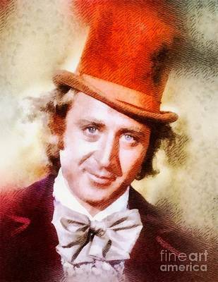 Television Painting - Gene Wilder, Vintage Actor by John Springfield