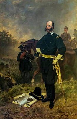 Painting - General Ambrose Burnside At Antietam by Mountain Dreams