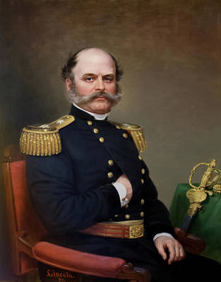 Painting - General Ambrose Burnside by James Lincoln