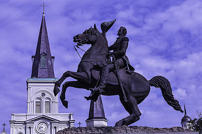 General Andrew Jackson Stature Art Print by Garry Gay