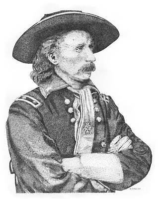 General Armstrong Custer Original by Kaz Ayukawa