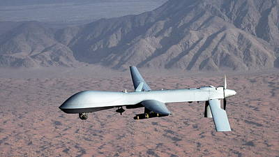 Airplane Digital Art - General Atomics Mq-1 Predator by Super Lovely