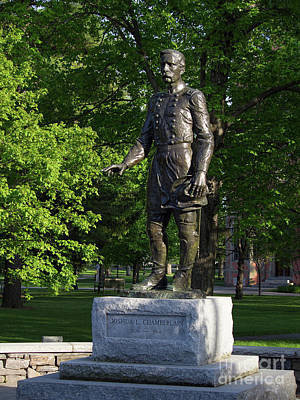 Photograph - General Chamberlain, Bowdoin College  0035 by John Bald