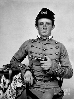 West Point Photograph - General Custer At West Point Ca 1859 by Jon Neidert