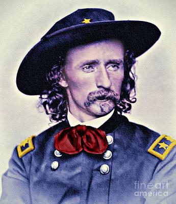 Digital Art - General Custer Folk Hero by Ian Gledhill