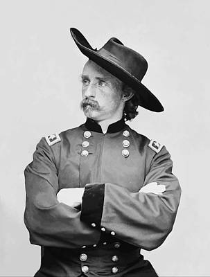 Cavalry Painting - General Custer by War Is Hell Store