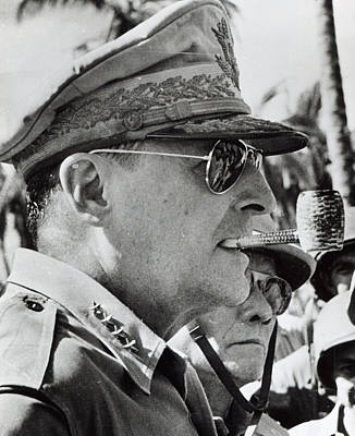 Douglas Photograph - General Douglas Macarthur, 1944 by American School