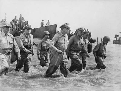 Two Photograph - General Douglas Macarthur Returns by War Is Hell Store