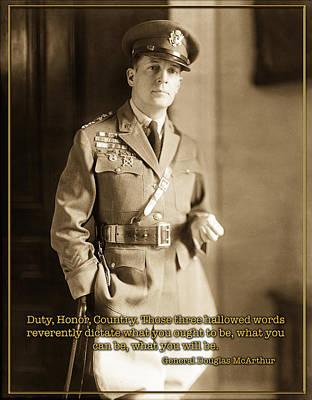 Photograph - General Douglas Mcarthur by Carlos Diaz