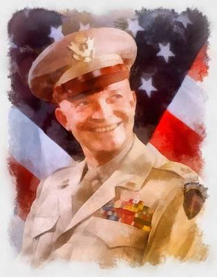 Eisenhower Painting - General Dwight D Eisenhower by Esoterica Art Agency